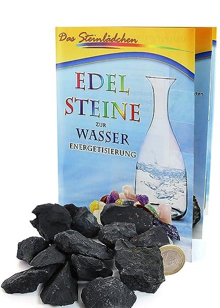 Amatistas decorativas schungite, 200 G, diseño de piedras, Shungit Wasserenergetisierung, incluye una