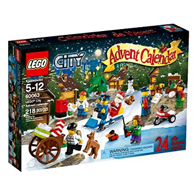LEGO City Town Advent Calendar Stacking Toy 60063(Discontinued by manufacturer): Toys & Games