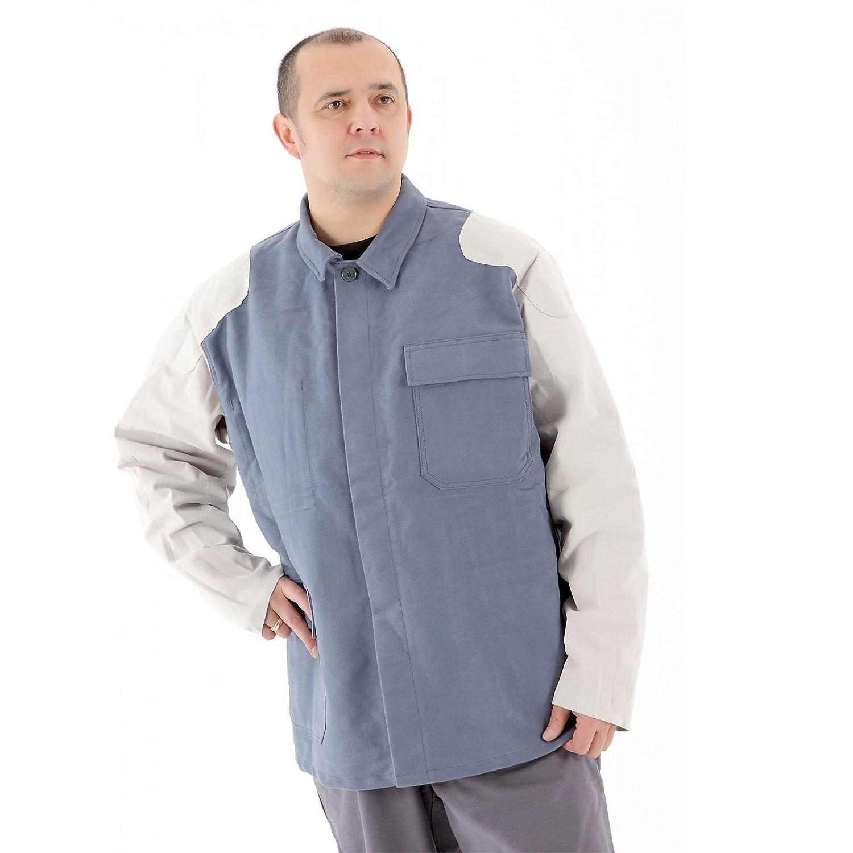 La chaqueta de soldadura Soldadura ropa con cuero equipo Flammentin recortar 100% algodón Tamaño elección , Größe:46: Amazon.es: Bricolaje y herramientas