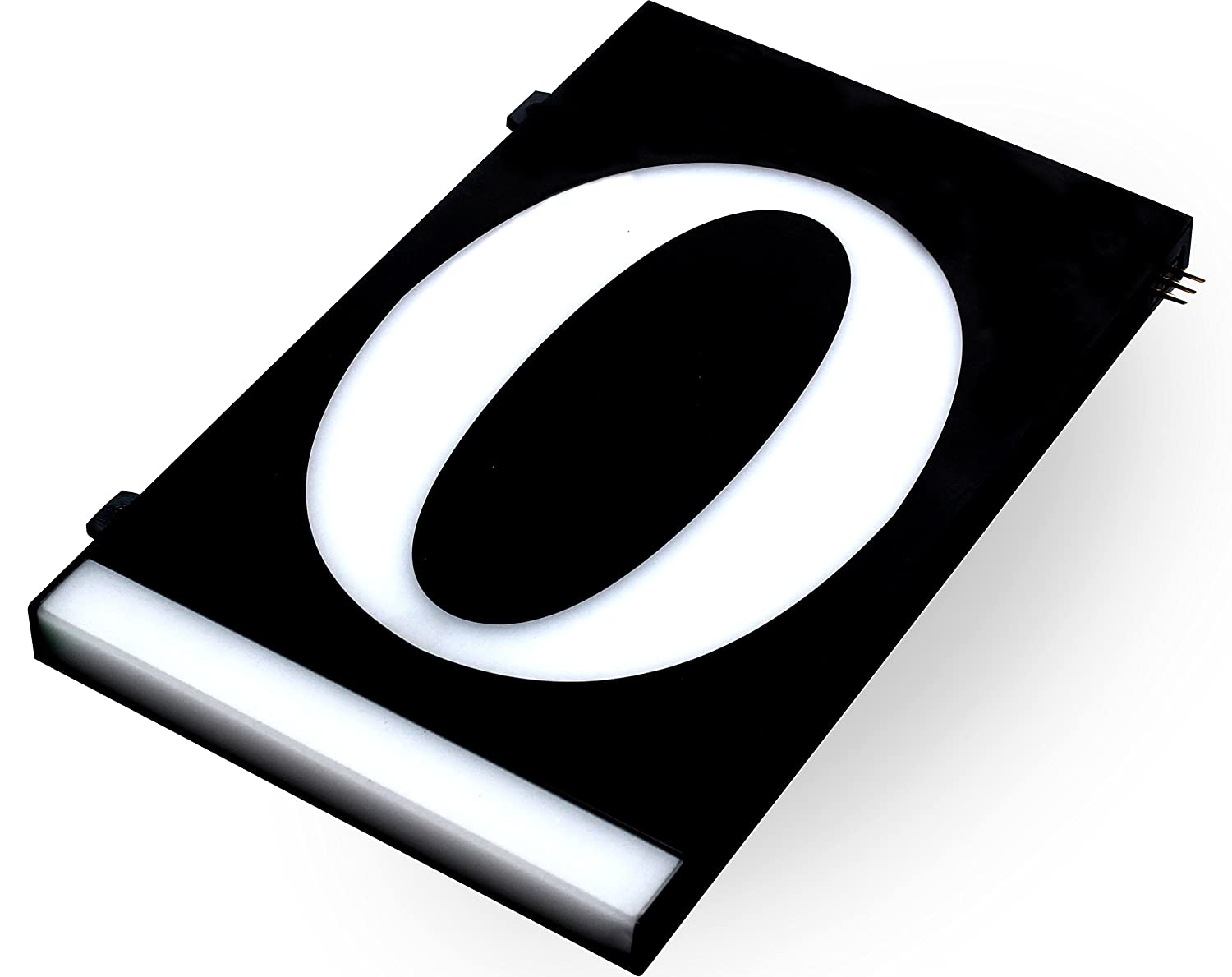 HOMIDEA Backlit LED House Number and Sound Activated Overhead Light. Personalized Large Black and White Modern Address Number Sign/Custom Street Number Plaque. (4) Homidea Direct Sales Inc.