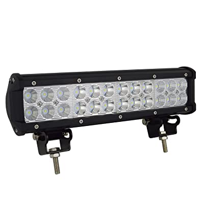 AUXTINGS 12 inch 72W Led Work Light Bar Spot Flood Combo Off road Lamp Lights Lighting for Jeep off road Van Camper Wagon ATV AWD SUV 4WD 4x4 Pickup Van with Mounting Bracket: Automotive