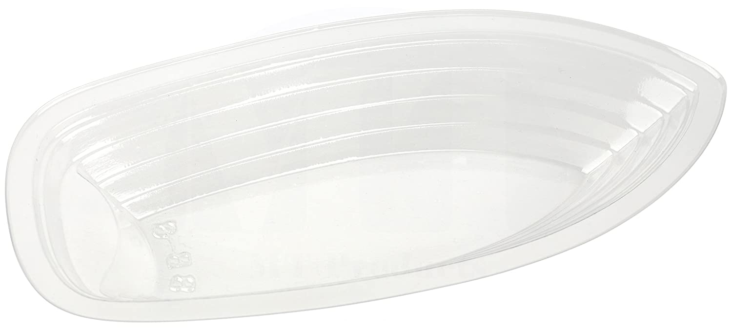 MT Products 8 oz. Clear Plastic Disposable Banana Split Boat (30 Pieces) 8OZBS