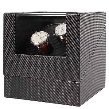 EP-Watch Shaker Reloj agitador, Reloj mecánico automático Doble Reloj rotativo Mute Personalizado Reloj Caja de liquidación, Adecuado para Casi Todos los ...