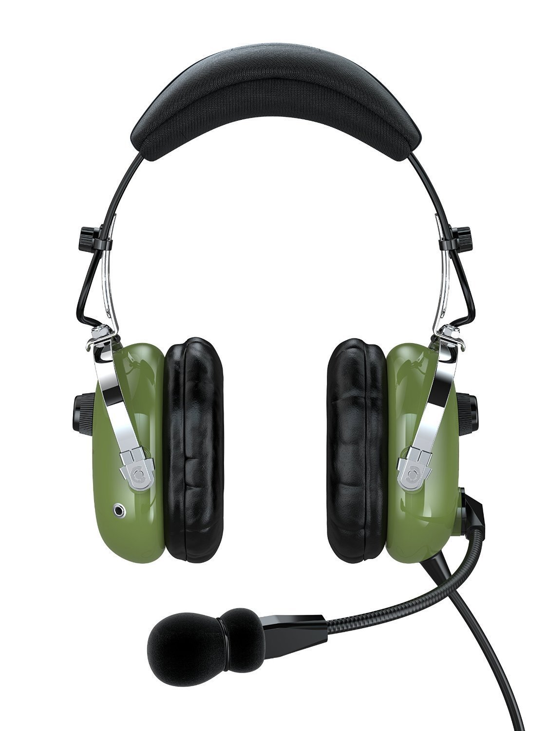 FARO G2 ANR (Active Noise Reduction) Premium Pilot Aviation Headset with Mp3 Input (Available adapters for aviation headset connectors, helicopter adapter, universal pilot headset, standard dual GA adapter universal support) - Green by FARO