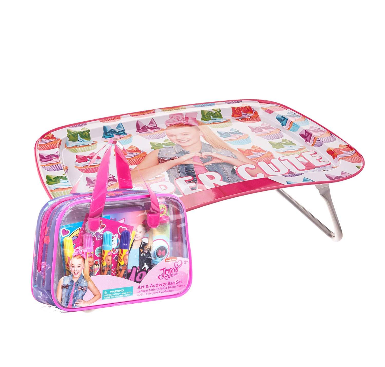JoJo by Jojo Siwa Children's Multipurpose Snack Activity Tray w/Art & Activity Bag Set