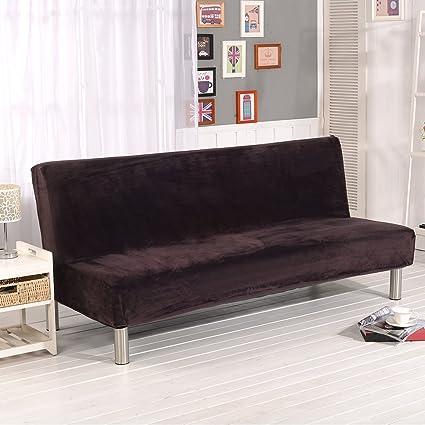 Fastar funda de clic-clac elástica, cubre /protector sofá de 3 plazas,color sólido (café(Más grueso))