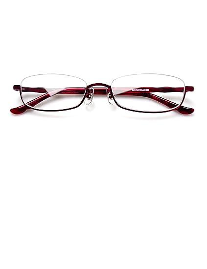 e67936eadcb5 Komehachi - Rectangle Round Semi Under Rim Clear Lens Prescription  Eyeglasses (Red(Rectangle