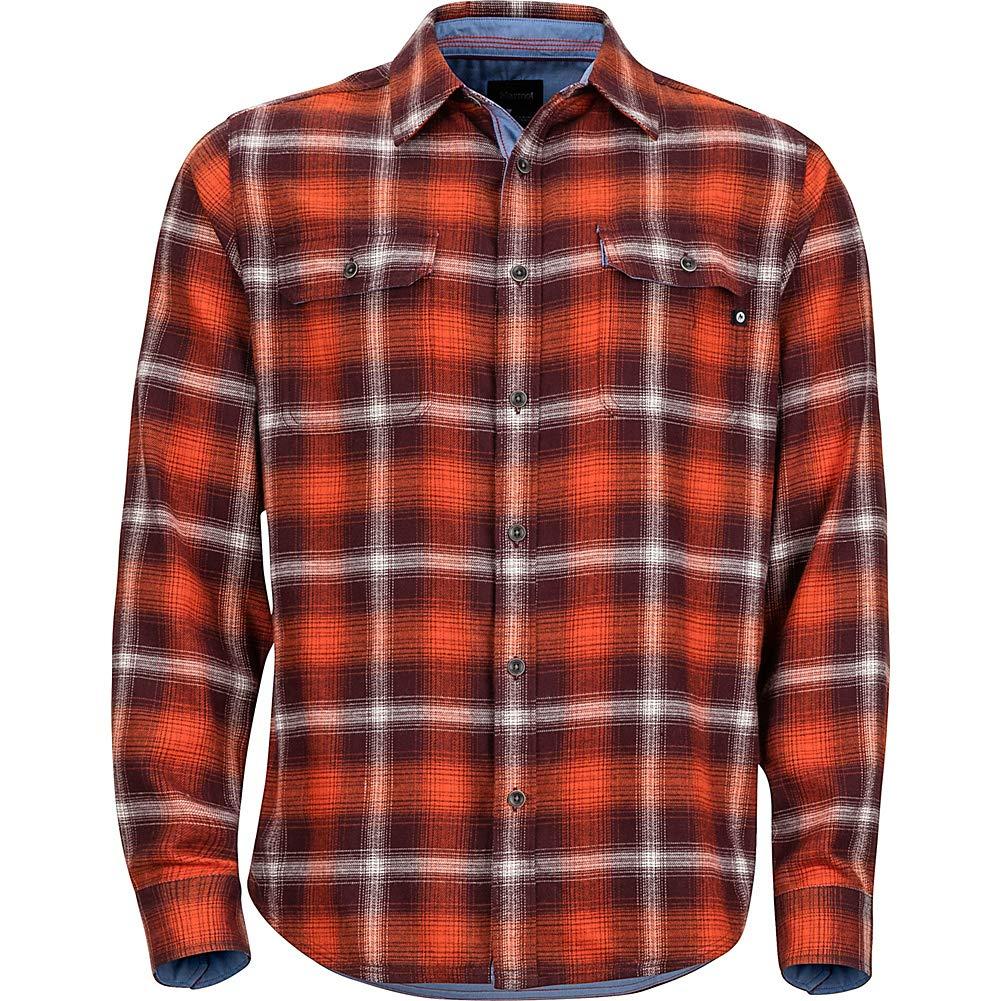 Marmot Jasper Midweight Flannel Shirt Medium Burgundy
