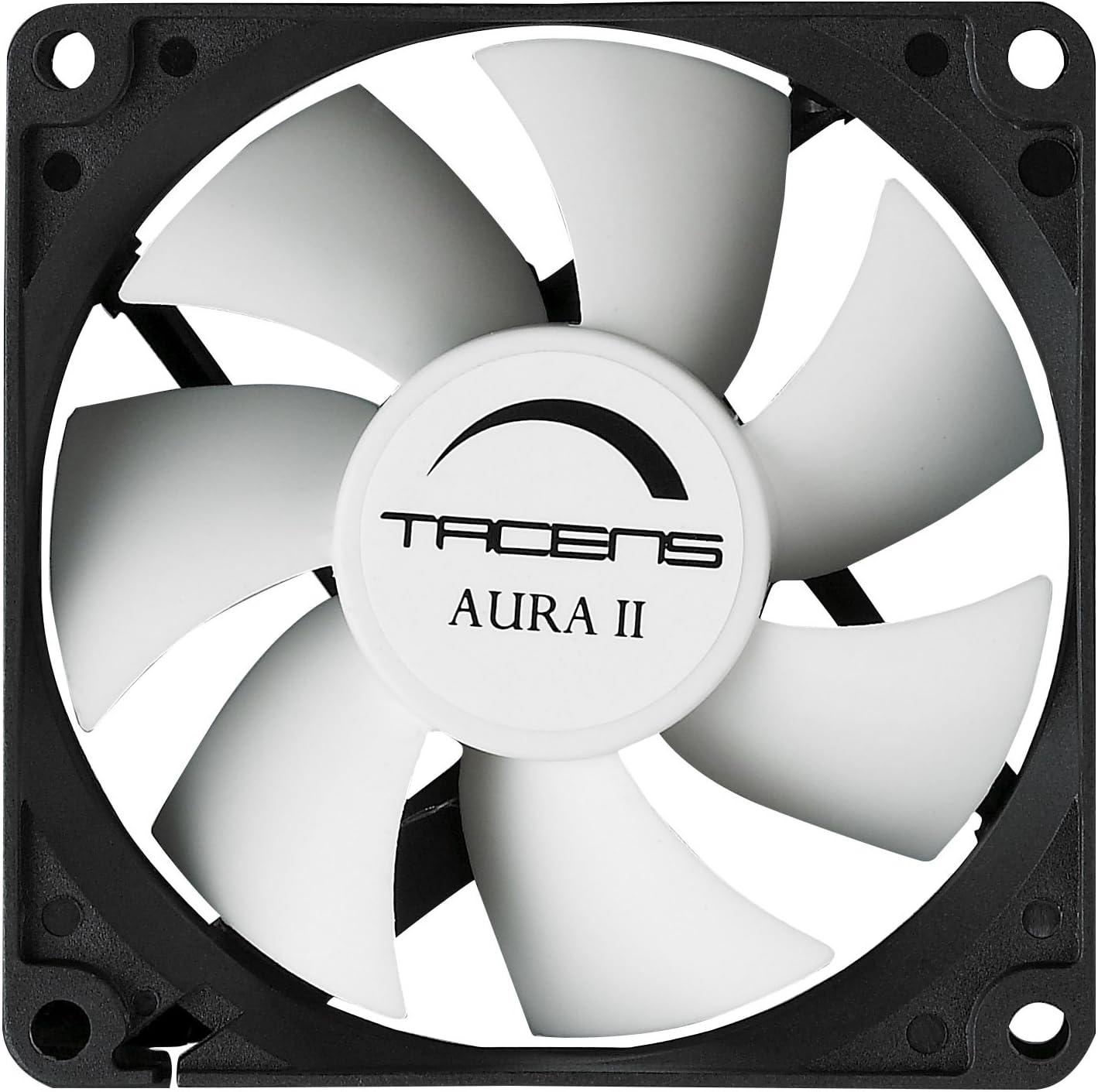 Tacens Aura II - Ventilador para ordenador (12cm, 14Db, Fluxus Bearing), negro