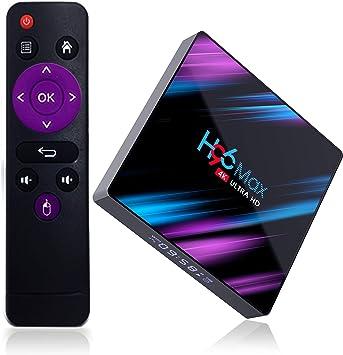 Xilibod H96 MAX TV Box Android 9.0 4GB RAM/32GB, Penta-Core Mali-450 Up to 750Mhz+, RK3318 Quad-Core 64bit Cortex-A53, H.265 Decoding 2.4GHz/5GHz WiFi Smart TV Box: Amazon.es: Electrónica