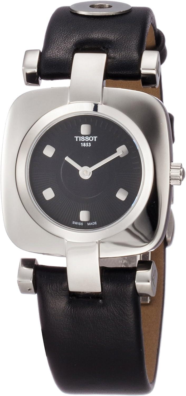 Tissot ODACI-T T0203091605100 - Reloj de Mujer de Cuarzo, Correa de Acero Inoxidable Color Negro
