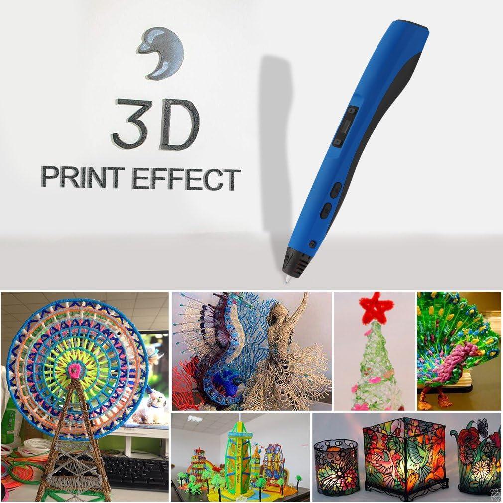 3D Pluma Inteligente LESHP 4ªGeneración Lapiz 3D Pen Bolígrafo de ...