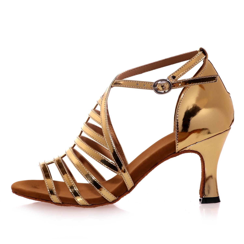 Weibliche Tanzschuhe Satin Latin Jazz Schaukel High Heels Heels Heels 7,5 cm anfänger Professionelle   B077DKPXM7 Tanzschuhe Einzigartig 8c9b46