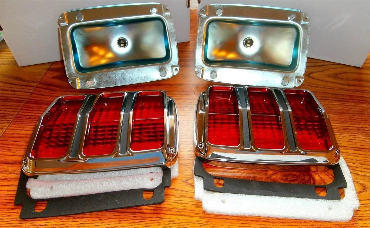 1 Pair 64-66 Ford Mustang LED Tail Light Housing 1964 1965 1966 Complete