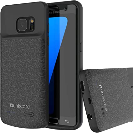 Amazon.com: Galaxy S7 Edge Funda Cargador de batería Caso ...