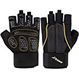 Trideer Double Protection Weight Lifting Gloves, Padded Gym Gloves, Rowing Gloves, Boating Gloves, Breathable & Ultralight Workout Gloves for Men & Women