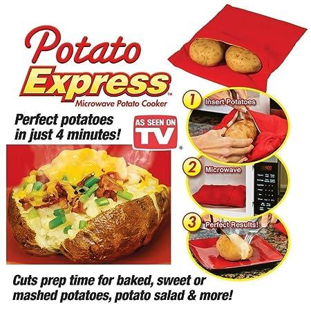 2 unidades) para cocinar patatas en microondas cocina Bag- funda ...