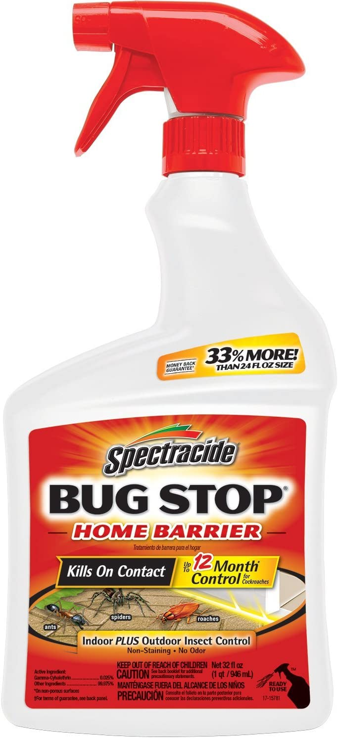 Spectracide Bug Stop Home Barrier Ready-to-Use Spray, 32 Fluid Ounce