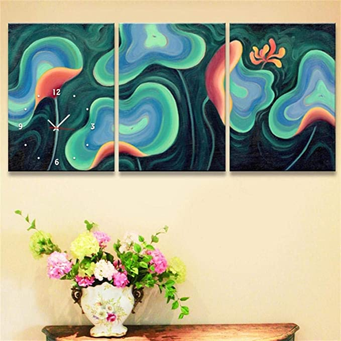 ... Moderno Estilo Sencillo Pinturas Decorativas Creativas Lienzo,Que Viven Sala De Restaurante,Barco Lienzo De Pared Material Del Reloj 3Pcs(5 TamaNtilde; ...