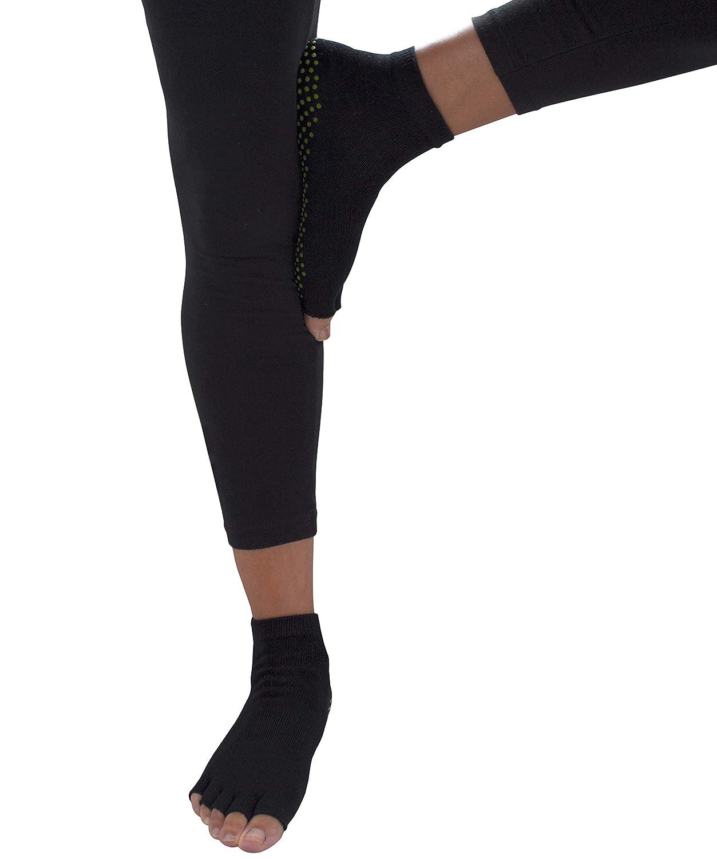Pilates by Ultimate You Deluxe Yoga Socks for Women Non Slip Non Skid Toeless Grip Socks Ideal for Ballet Barre