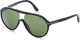 Tom Ford Oval Sunglasses for Men - Green lens, FT0443 01N