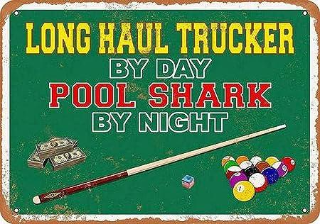 LORENZO Day Pool Shark Vintage Metal Cartel de Chapa Pared Hierro Pintura Placa Cartel Señal de Advertencia Cafe Bar Pub Beer Club Decoración del hogar: Amazon.es: Hogar