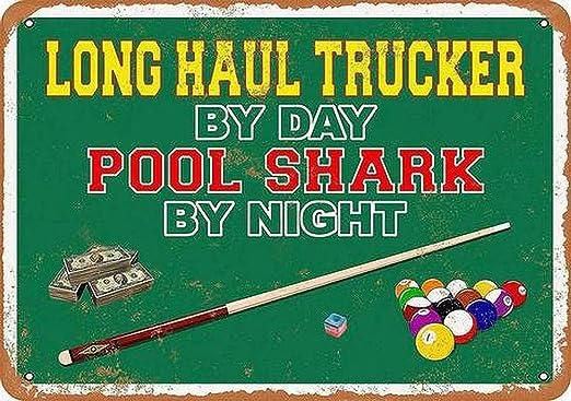 LORENZO Day Pool Shark Vintage Metal Cartel de Chapa Pared Hierro ...