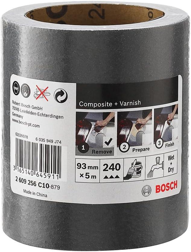 Bosch 2609256C08 Rouleau abrasif sic r/Ã/©sistant /Ã/ leau 93/Â/mm x 5/Â/m P120