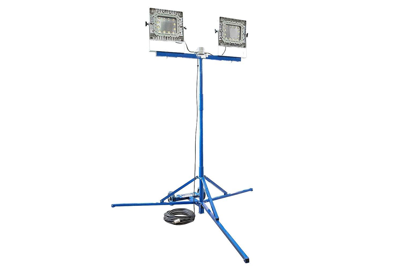 300W Explosion Proof LED Light Tower C1D1-300 12//3 Cord w//EXP Plug Quadpod Mount
