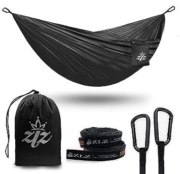 xl single  u0026 double camping hammock zlz premium ultralight portable hammocks for backpacking hiking xl single  u0026 double camping hammock zlz premium ultralight      rh   amazon co uk