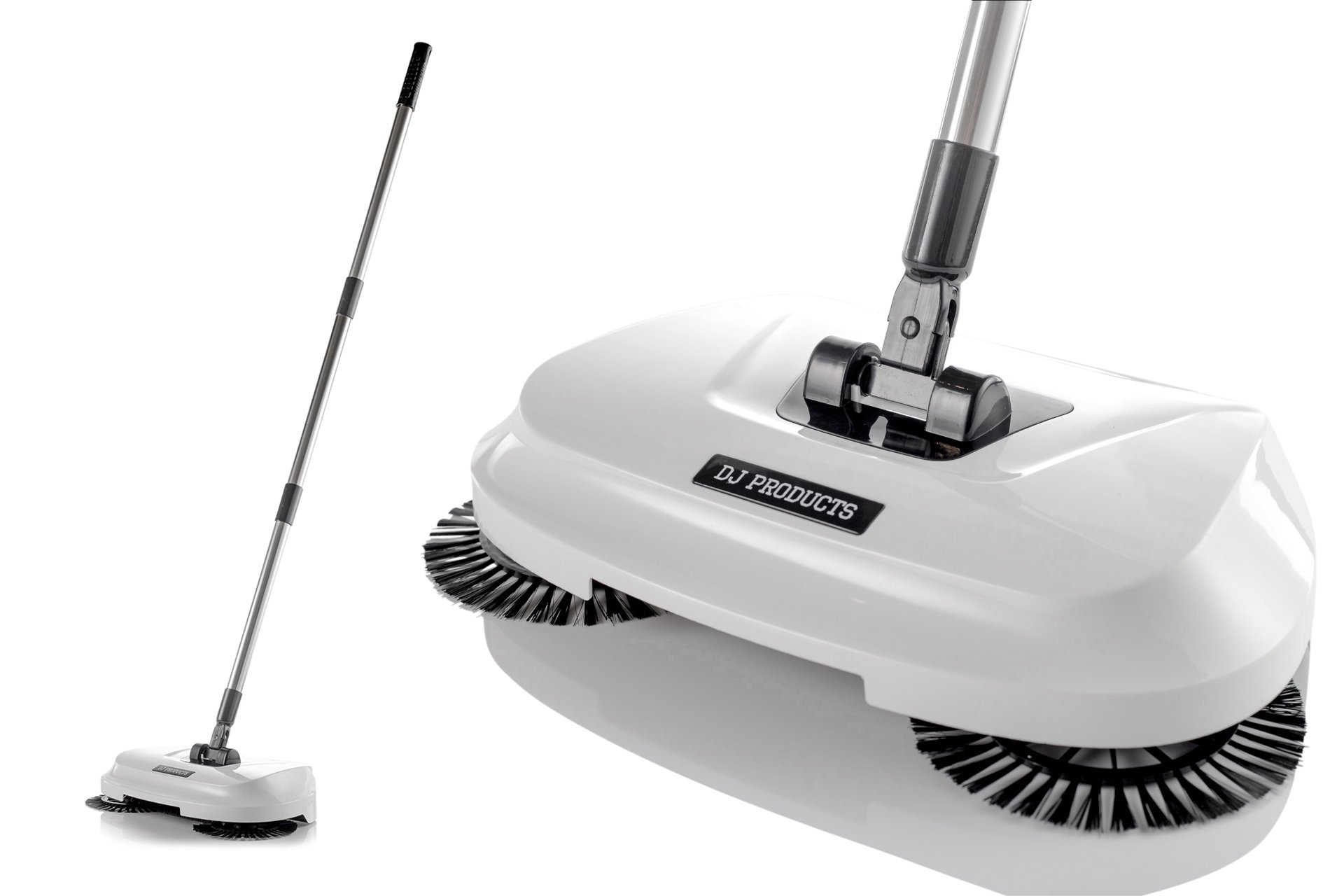 Spinning Cordless Push-Power Broom 3 in 1   360 Degree Rotating Cleaning Sweeper Tool   Lightweight, Non-Electric, Safe, Easy to Use   Scrub + Sweep + Dustbin All in One!