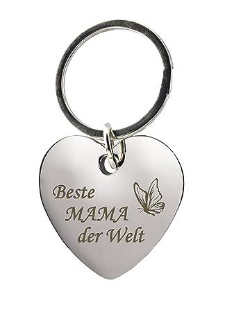 Schlüsselanhänger Herz Mit Gravurbeste Mama Der Welt Mit