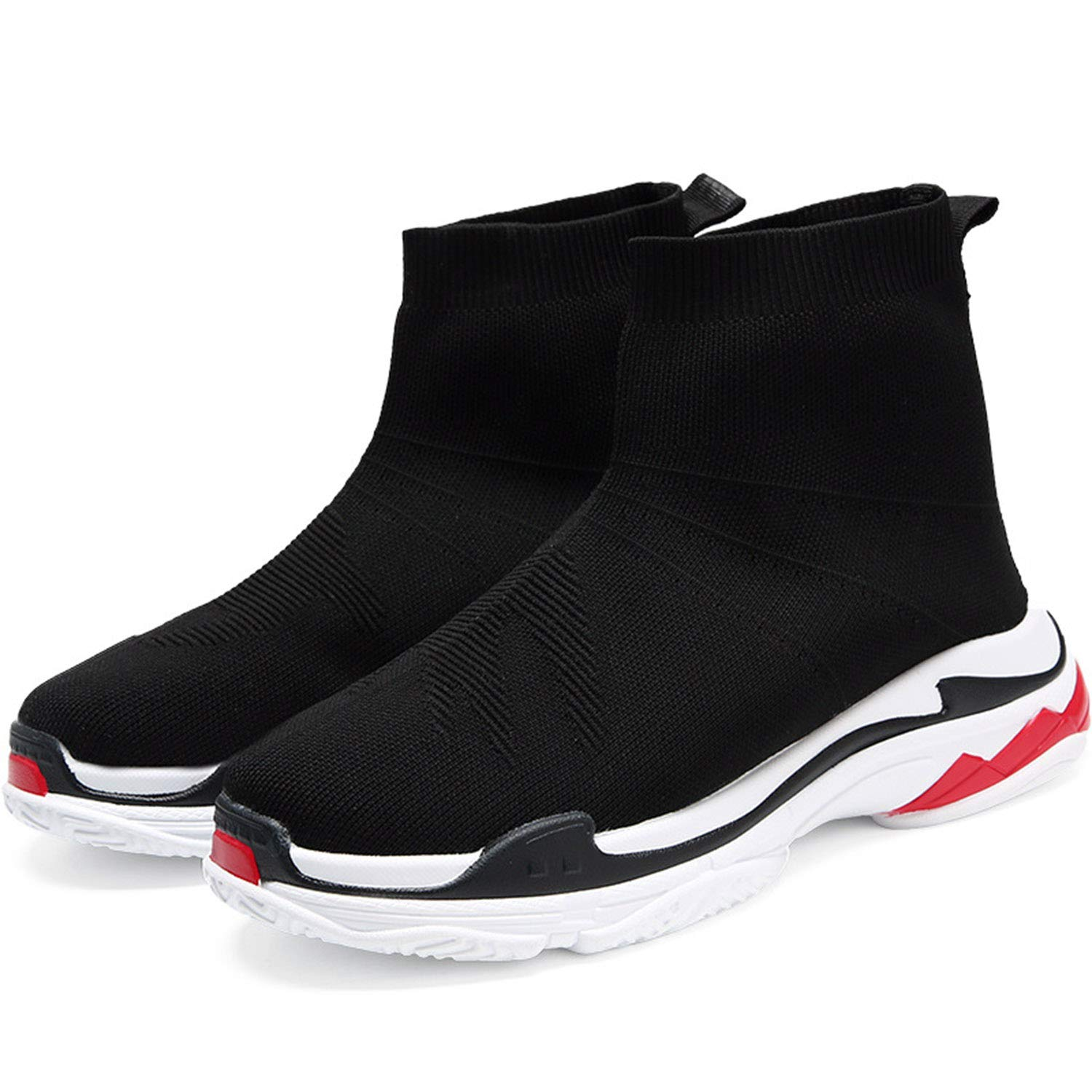 Black Spring and Summer Sports shoes Non-Slip shoes Men's shoes Deodorant Women's shoes Socks Sports shoes @ Y.T,Black,7