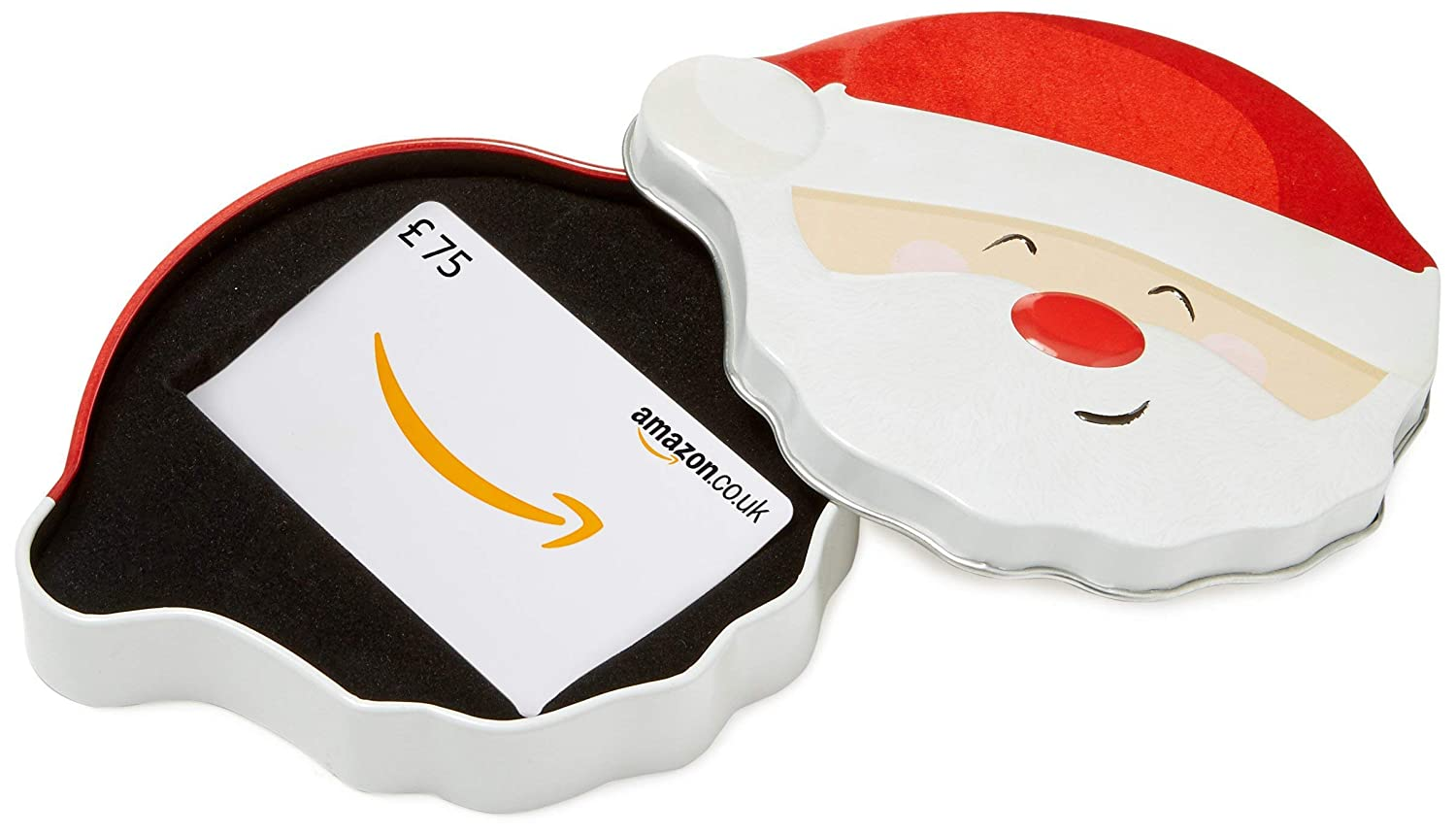 Amazon.co.uk Gift Card for Custom Amount in a Santa Smile Tin - FREE One-Day Delivery Amazon EU S.à.r.l. VariableDenomination