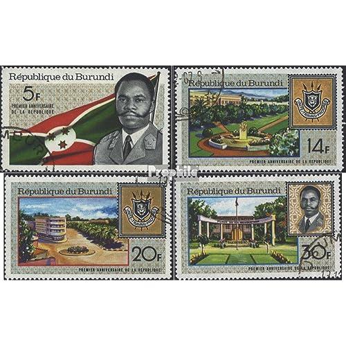 Burundi 378A-381A (complète.Edition.) 1967 1 Année République (Timbres pour les collectionneurs)