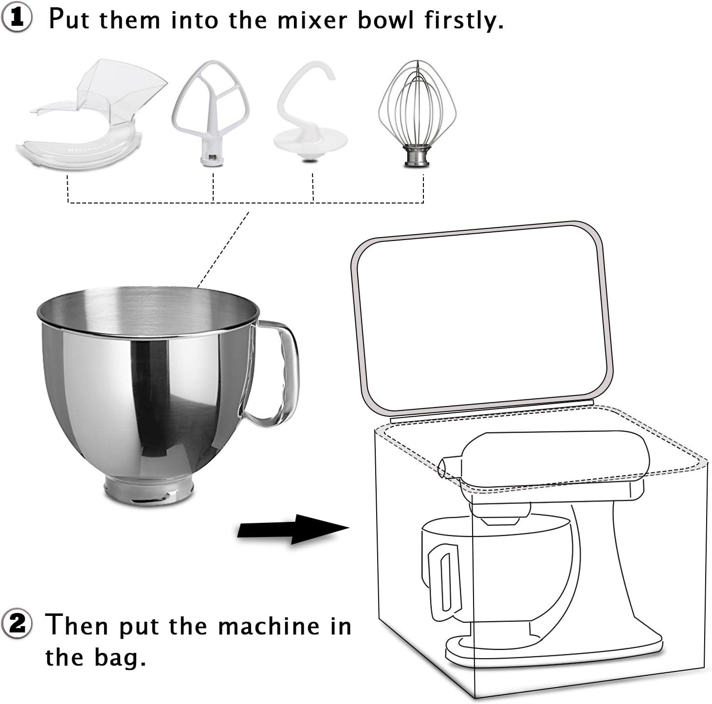 ZCGYL Housse Mixeur Kitchen Aid Sac Robot Mixeur Porte M/élangeur Sac Anti-poussi/ère