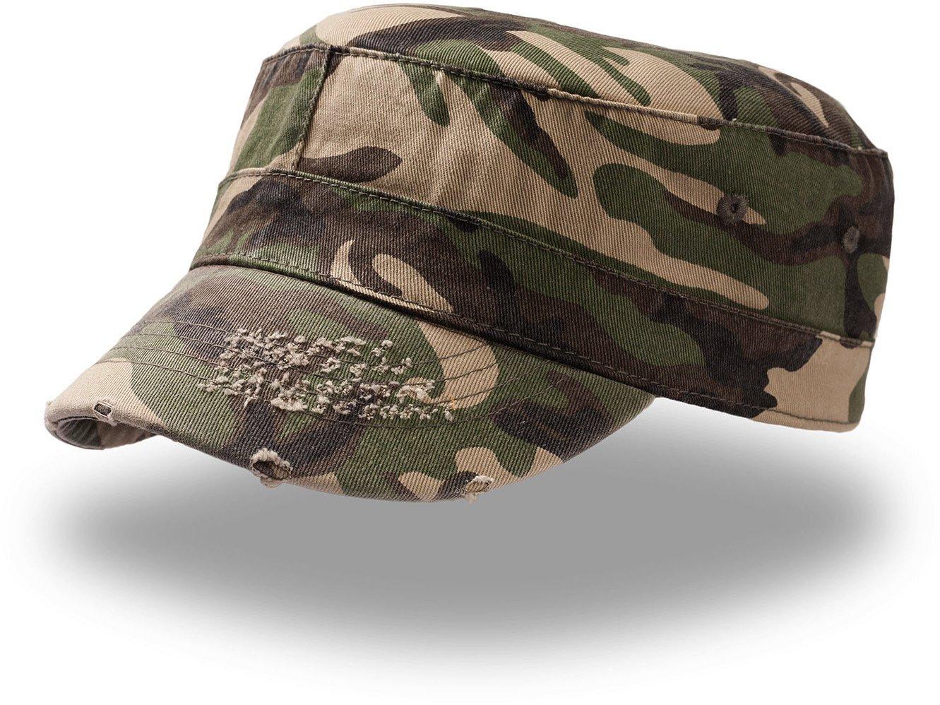 TANK CAMOUFLAGE BERRETTO MILITARE VASCO CAP CHAPEAUX 100% COTONE UNISEX  ATLANTIS 8437e2046d3f