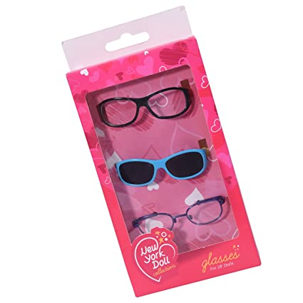 2119fe609c89 Image Unavailable. Image not available for. Color  Set of 3 Doll Glasses