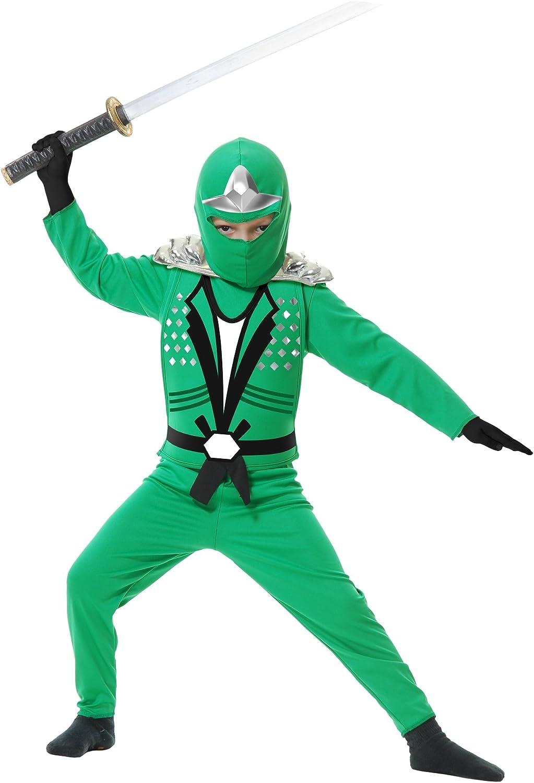 Charades Ninja Avenger Series II with Armor Childs Costume, X-Small Jade