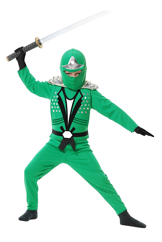 Charades Ninja Avenger Series II with Armor Child's Costume, Medium Jade