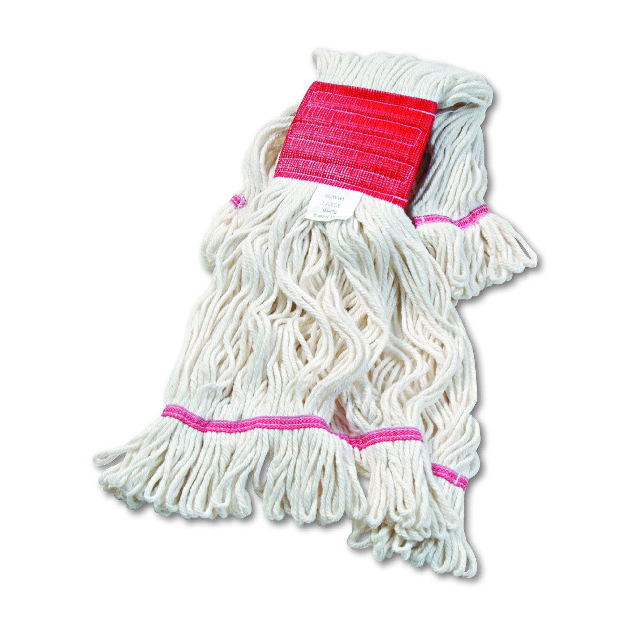 Boardwalk UNS 503WH Super Loop Wet Mop Head, Cotton/Synthetic, Large Size, White, Cotton/Synthetic (Pack of 12) by Boardwalk