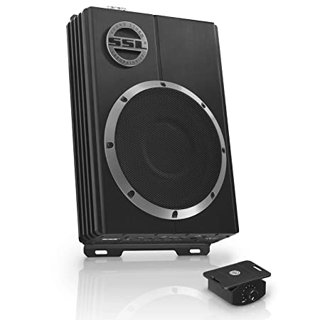 Sound Storm LOPRO8 Amplified Car Subwoofer - 600 Watts Max Power, Low Profile, 8 Inch Subwoofer, Remote Subwoofer Control, Great For Vehicles That Need Bass But Have Limited Space