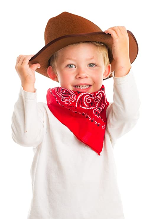 1ac69cbc8 Aeromax Junior Cowboy Hat with Bandanna, Brown: Amazon.in: Clothing ...