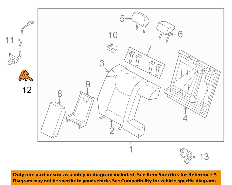 Genuine Hyundai 89752-3X000 Seat Bracket Assembly Lower Right