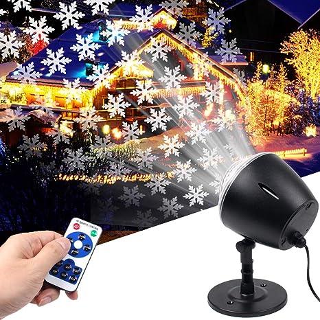 Proyector LED de copo de nieve de Koot, proyector de Navidad ...