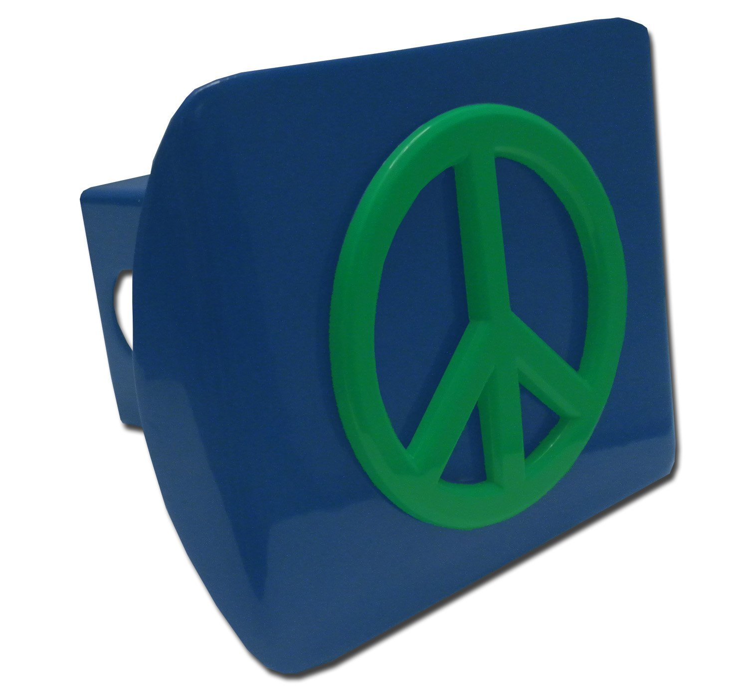 Elektroplate Chrome Peace Sign Black Plastic Hitch Cover