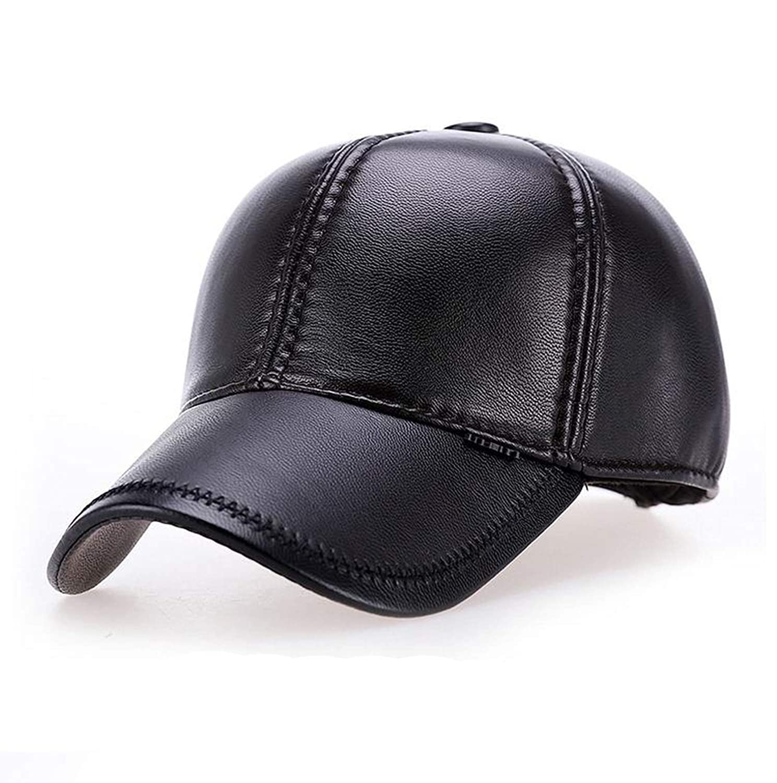 Ron Kite New Cool Autumn Leather Male Baseball Cap PU Leather Man Baseball Hat Keep Sunscreen Hats