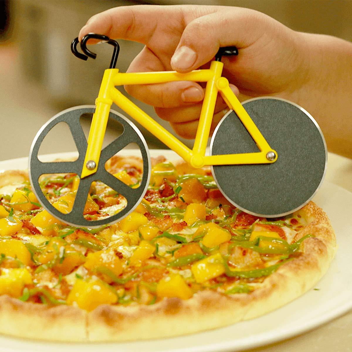 Cortador de pizza para bicicleta de acero inoxidable con ...