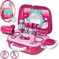 Zest 4 Toyz 2 in 1 Pretend to Play Beauty Set Cum Hand Bag for Little Girls,Beauty Set with Mirror, Hair Dryer Fashion & Makeup Accessories