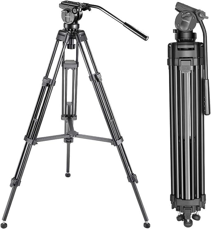 Neewer 2-in-1 Kamera Stativ Einbeinstativ mit um 360 Grad drehbarer Mittels/äule und Schnellwechselplatte mit Kugelkopf 65-Zoll Aluminiumlegierung Stativbeine f/ür DSLR-Kameras